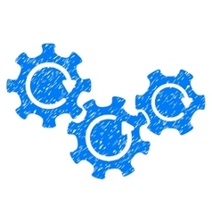 Transmission gears rotation grainy texture icon vector