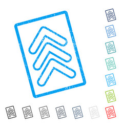Triple pointer up icon rubber watermark vector