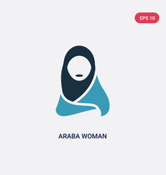 Two color araba woman icon from other concept vector
