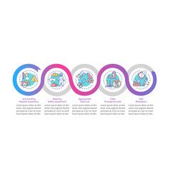 workplace safety elements infographic template vector image