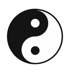Ying yang icon simple style vector