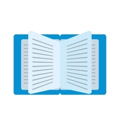cartoon blue book read learning school vector image