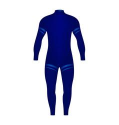 Diving suit in blue design vector