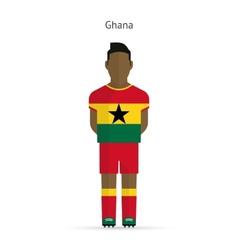 Ghana football player Soccer uniform vector image vector image