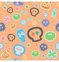 halloween seamless pattern Cartoon vector image vector image