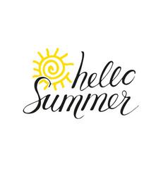 hello summer phrase vector image