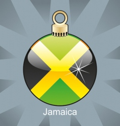 Jamaica flag on bulb vector image vector image