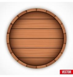 Set of wooden casks for alcohol drinks emblem vector image