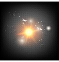 Shiny sunburst of sunbeams vector image vector image