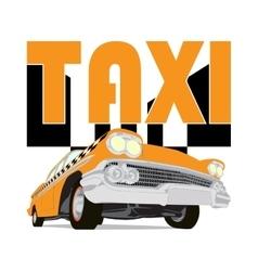 Vintage taxi car cartoon sketch vector image vector image
