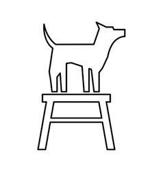cute dog mascot in chair isolated icon vector image vector image