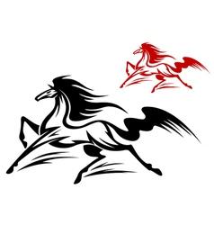 fast running stallion vector image