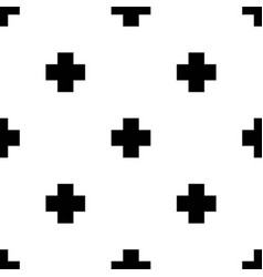 seamless pattern with crosses in scandinavian vector image vector image