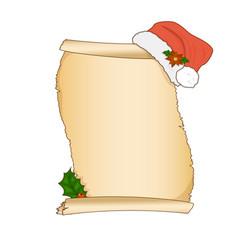 vintage christmas wish list letter design vector image