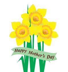 daffodil mom vector image vector image