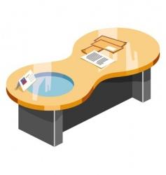 desk vector image vector image