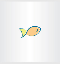 fish icon logo element design vector image vector image
