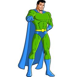 pointing superhero mascot character clipart vector image vector image