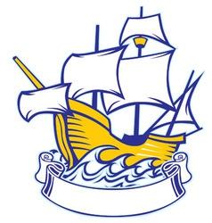 sailing caravel vector image vector image