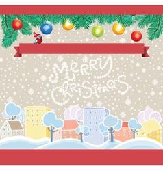 Cartoon Christmas Template vector image vector image