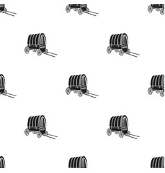 cowboy wagon icon in black style isolated on white vector image vector image
