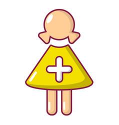 nurse icon cartoon style vector image