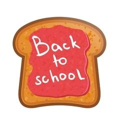 School lunchtoast with jam vector
