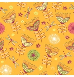 seamless vintage flower pattern background vector image vector image