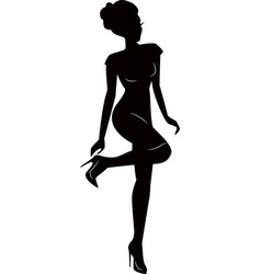 Sexy woman girl silhouettes vector