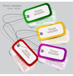 Sticker label set vector image vector image