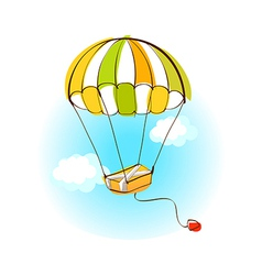 A hot-air balloon vector