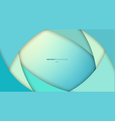 abstract blue curve layer overlapping background vector image