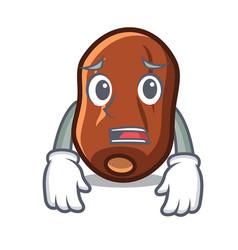Afraid dates fruit mascot cartoon vector
