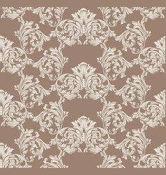 baroque pattern decor for invitation wedding vector image