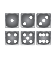 black dice on white top vie stock vector image