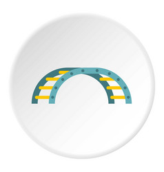Blue climbing stairs on a playground icon circle vector