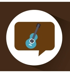 Blue guitar vintage background icon vector