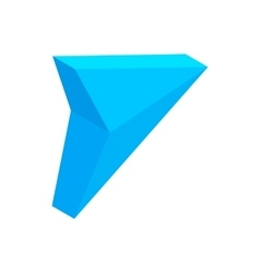 Blue triangular arrow isometric 3d icon vector