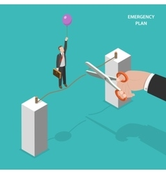 Business emergency plan isometric concept vector image