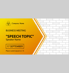 business meeting banner template corporate flyer vector image