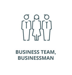 business team businessman line icon vector image