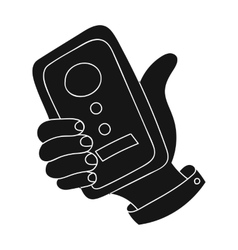 Call conference icon in black style isolated on vector image