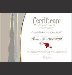 Certificate or diploma retro vintage template 2061 vector