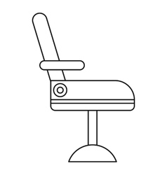 Chair icon outline style vector