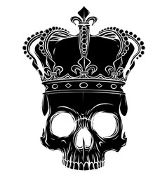 Character - skull king and crossed royal vector