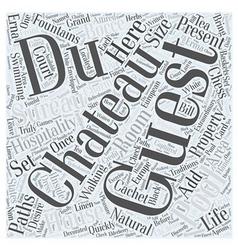 Chateau Du Sureau Word Cloud Concept vector