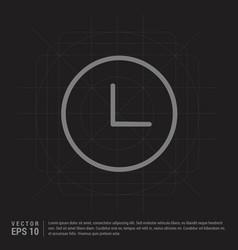 clock icon - black creative background vector image