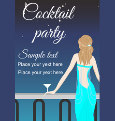 cocktail partyeps vector image