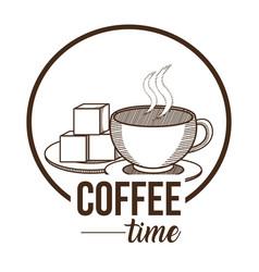 Coffee time concept vector