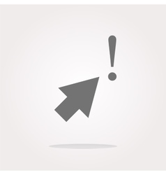 computer button with arrow and exclamation mark vector image